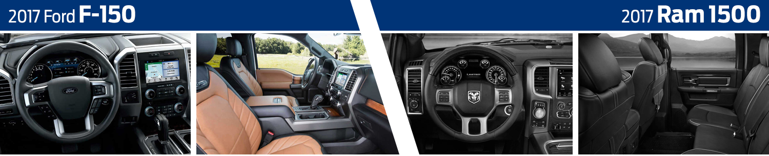 2017 Ford F-150 vs RAM 1500 Interior Comparison