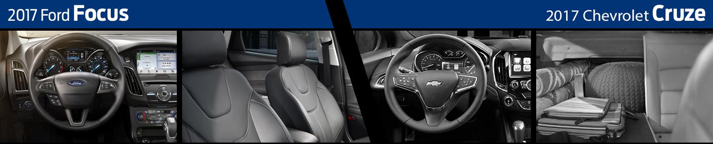 2017 Ford Focus VS Chevrolet Cruze Interior Comparison