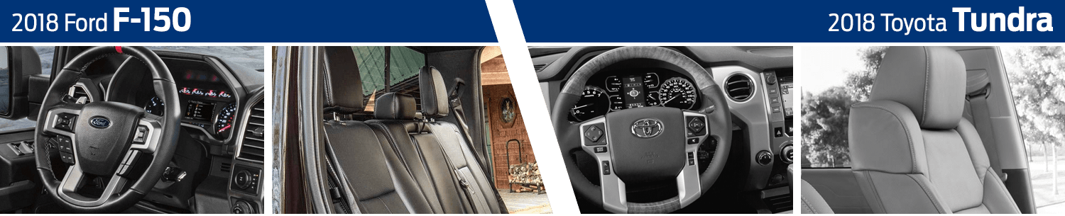 2018 Ford F-150 vs 2018 Toyota Tundra Interior Comparison