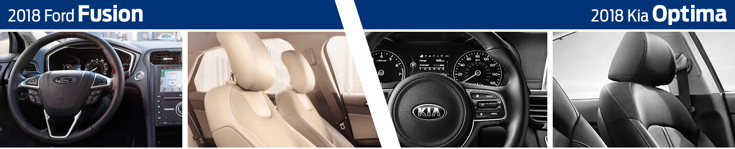 2018 Ford Fusion vs 2018 Kia Optima Interior Comparison