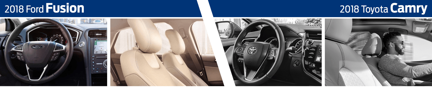 2018 Ford Fusion vs 2018 Toyota Camry Interior Comparison