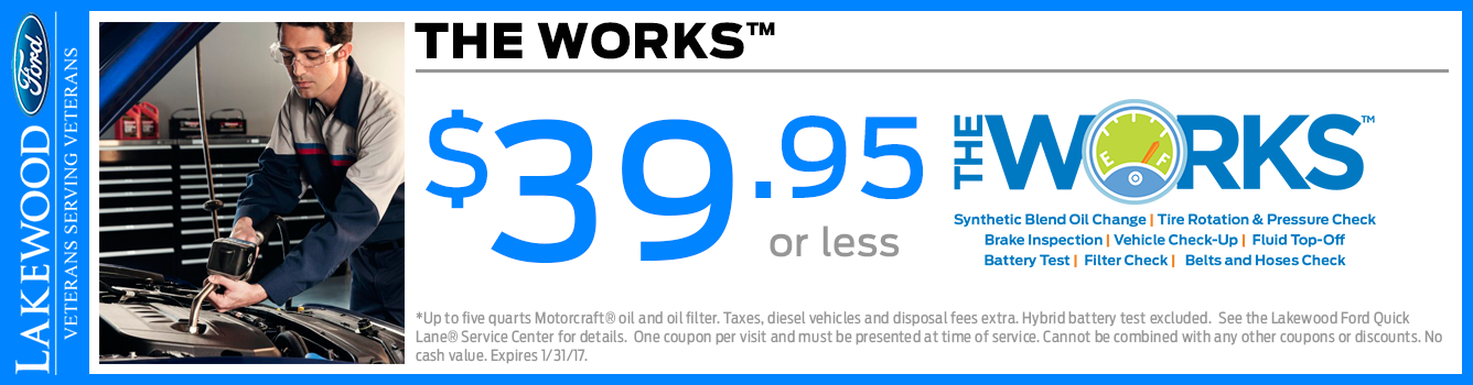 Ford The Works Service Package Special in Lakewood, WA