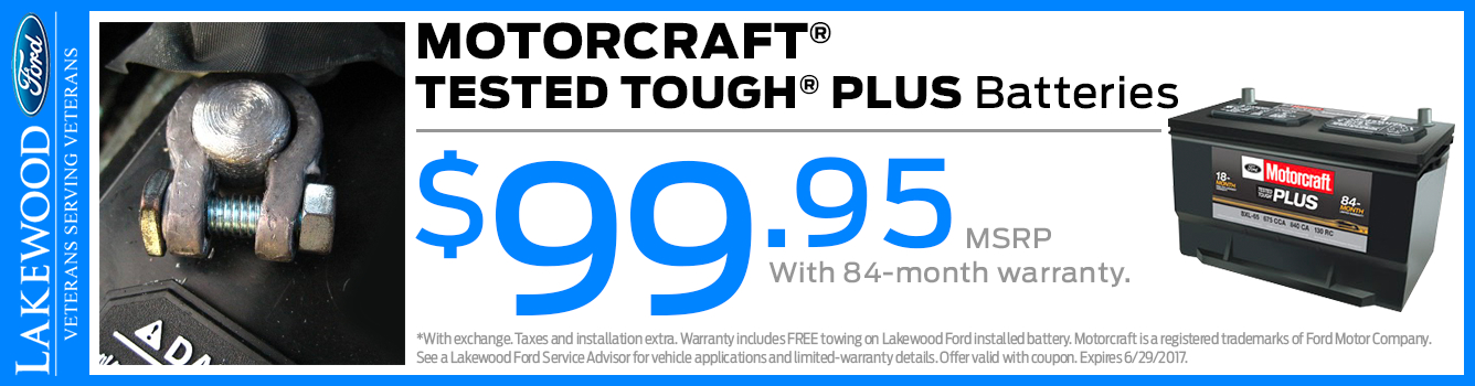 Ford Motorcraft Tough Plus Batteries Parts Special in Lakewood, WA