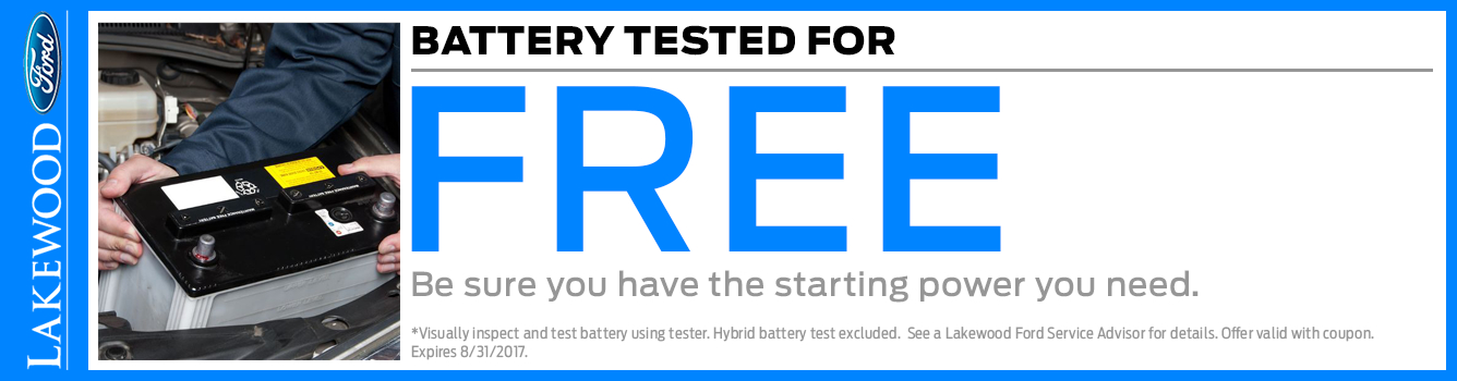 Ford Free Battery Test Service Special in Lakewood, WA