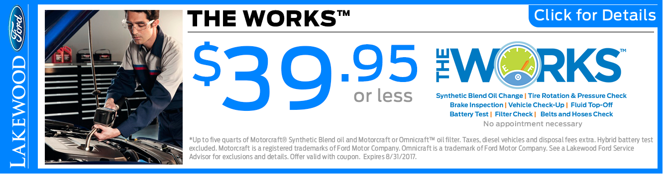Click to View The Works Service Special in Lakewood, WA
