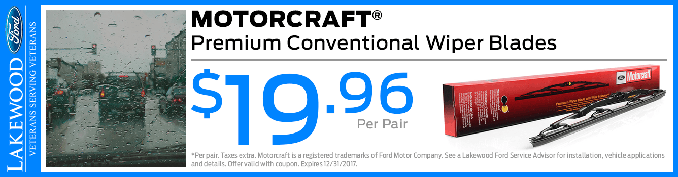Motorcraft Premium Conventional Wiper Blades Parts Special serving Tacoma, WA