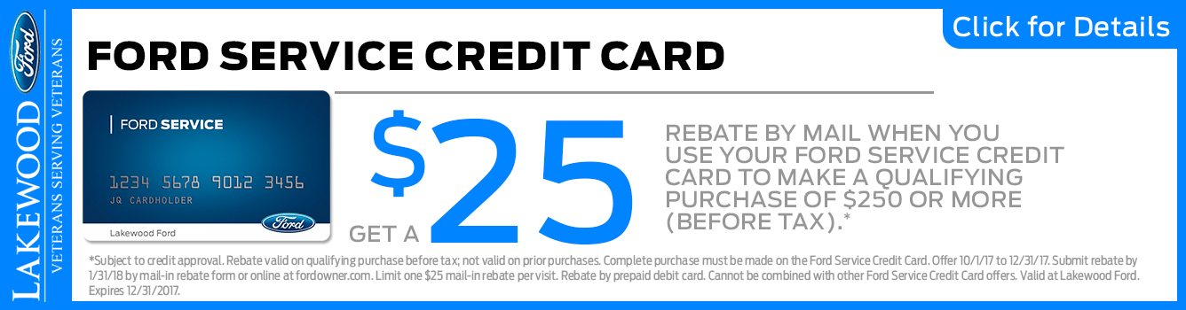 Save with your Ford Service Credit Card in Lakewood, WA
