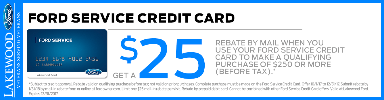 Ford Service Credit Card Rebate Offer at Lakewood Ford serving Tacoma, WA