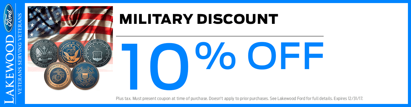 Military Appreciation Ford Parts Discount in Lakewood, WA