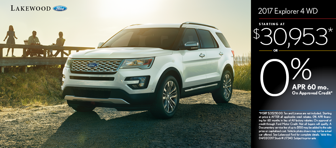 2017 Ford Explorer Base Sales Special in Lakewood, WA