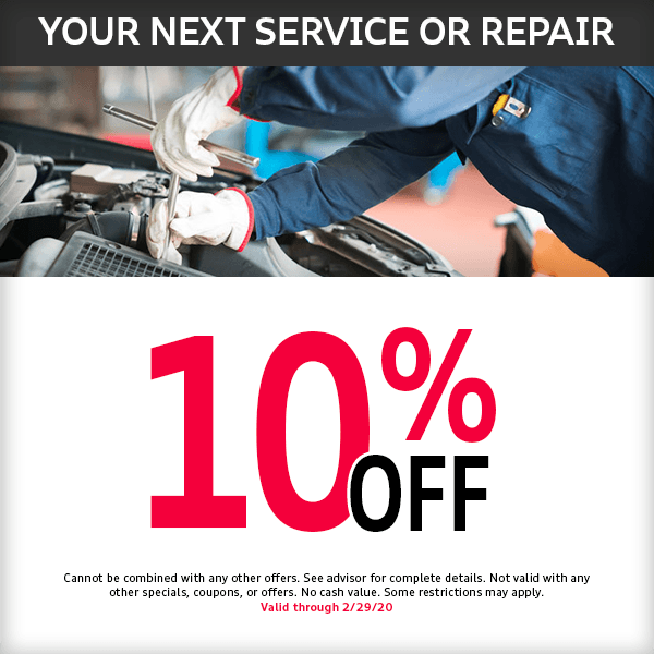 Save 10% on your next Audi service or repair at McKenna Audi service department in Norwalk, CA