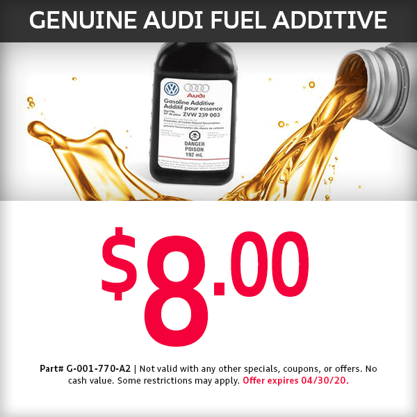 Genuine Fuel Additive Parts Special at Mckeena Audi in Norwalk, CA