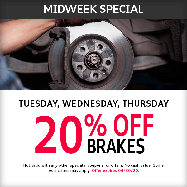Midweek Tuesday, Wednesday, Thursday Parts Special at Mckeena Audi in Norwalk, CA