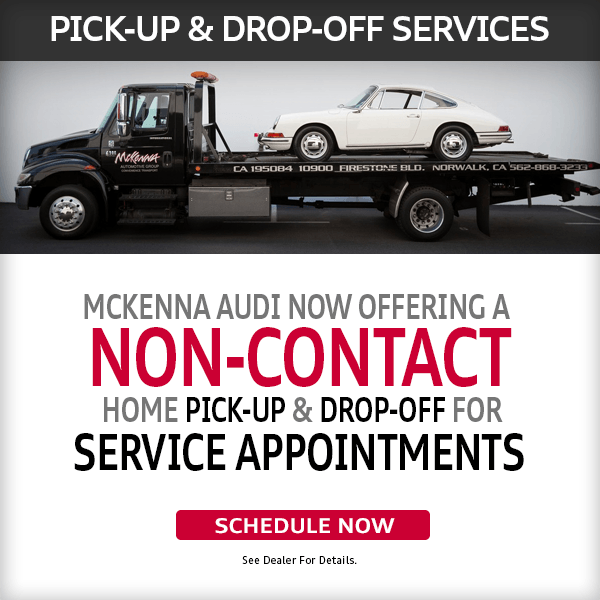 Mckenna Audi Offering a Non-Contact Pick-Up and Drop-Off for Service Appointments