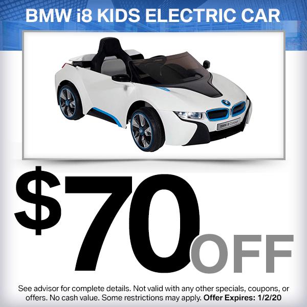 $70 off BMW i8 kids electric car