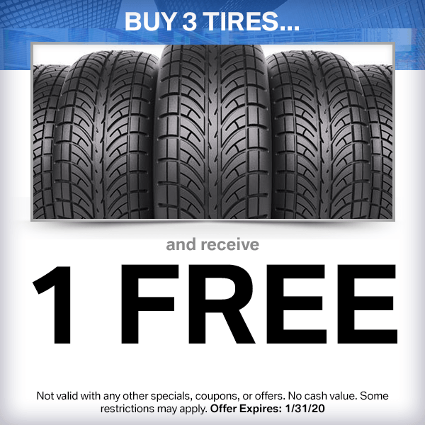Buy 3 Tires and Get 1 Free Service Special in Norwalk, CA