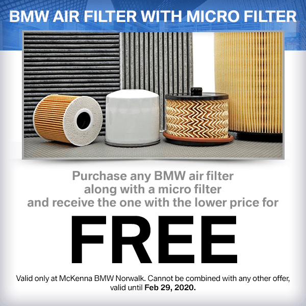 Buy a Genuine BMW air filter and micro filter and get lower priced one Free in Norwalk, CA
