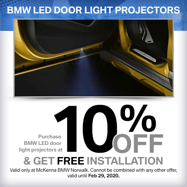 Save On Genuine BMW LED door light projectors and get Free Installation in Norwalk, CA