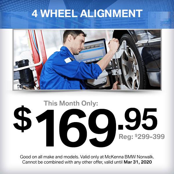 4 Wheel Alignment service special at McKenna BMW in Norwalk, CA