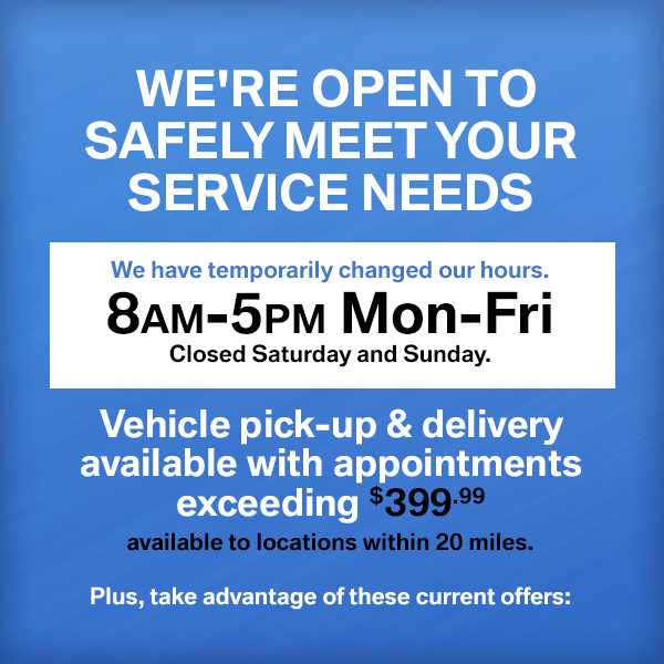 We're open to safely meet your service needs at Mckenna BMW in Norwalk, CA