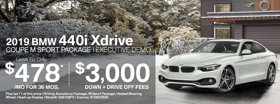 2019 BMW 440i Xdrive coupe M Sport Package Special Demo Lease Savings in Norwalk, CA
