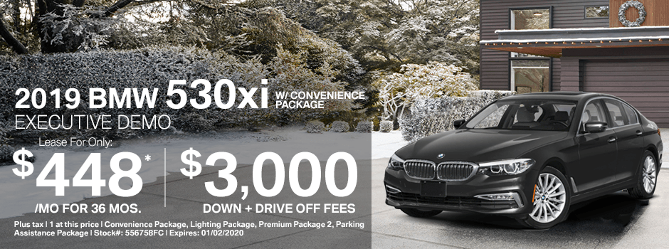 2019 BMW 530xi w/Convenience Package Special Demo Lease Savings in Norwalk, CA
