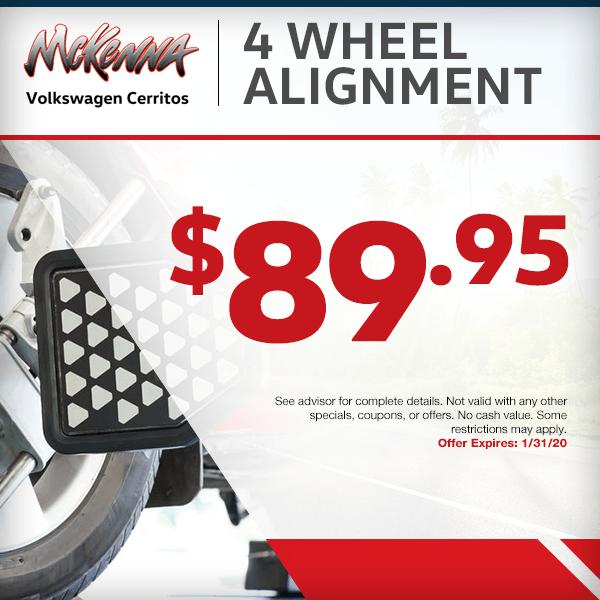 4 Wheel Alignments Special Service Savings in Cerritos, CA