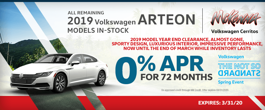 All Remaining 2019 VW Arteon models in stock savings in Cerritos, CA