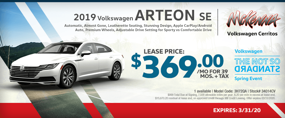 2019 Volkswagen SE Special Special Lease Savings in Cerritos, CA