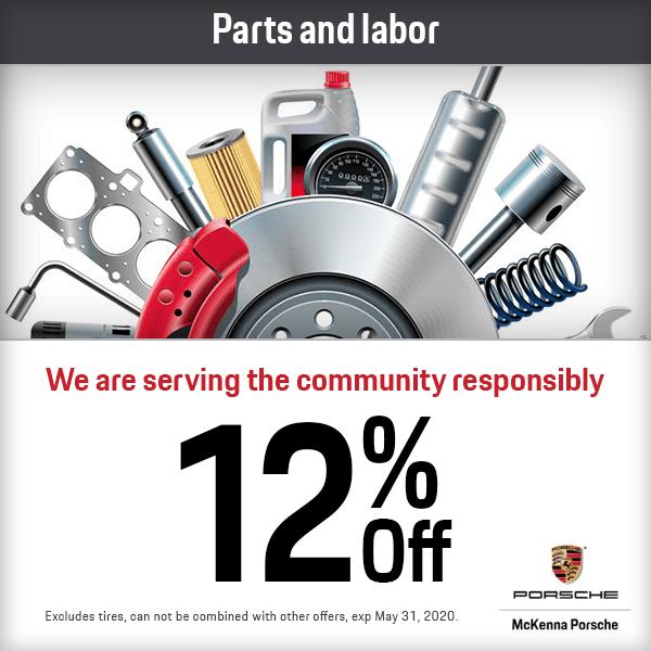 12% Discount Off of Parts and Labor at Mckenna Porsche in Norwalk, CA