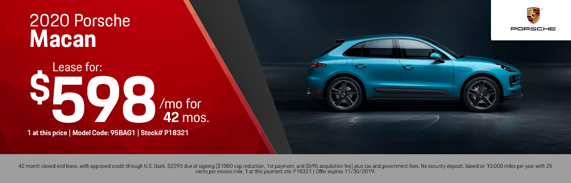 2020 Porsche Macan Lease Special in Norwalk, CA