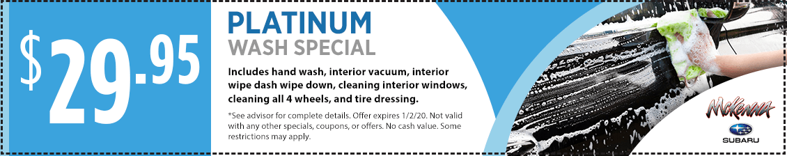 Platinum Wash Service Special in Huntington Beach, CA