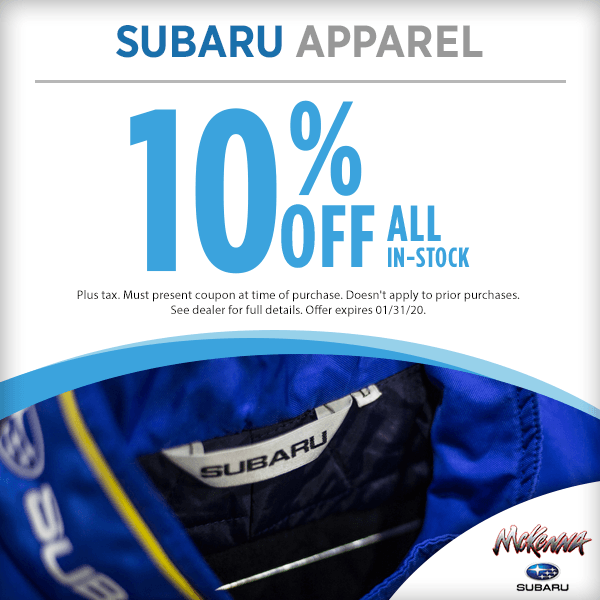 Subaru Apparel Parts Special in Huntington Beach, CA