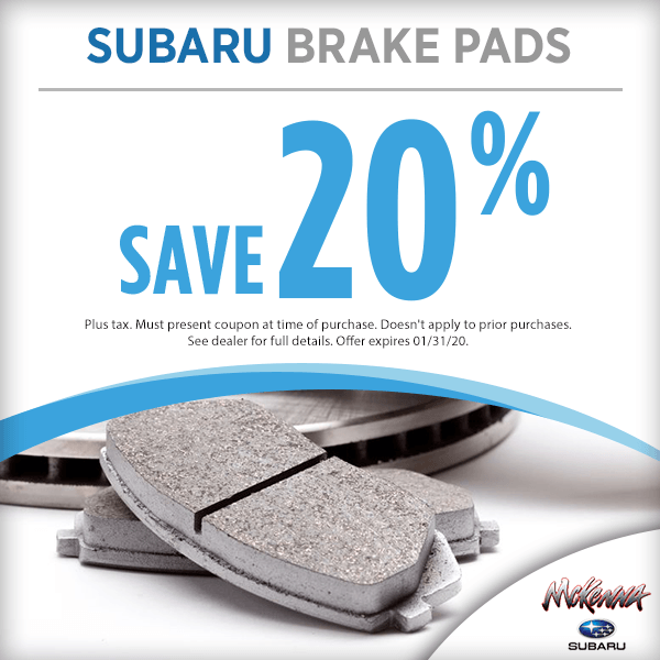 Subaru Brake Pads Parts Special in Huntington Beach, CA
