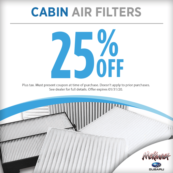 Cabin Air Filter Parts Special in Huntington Beach, CA