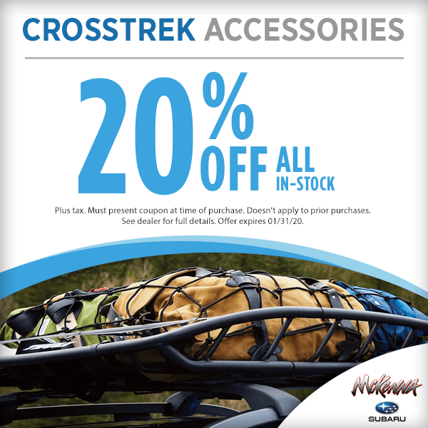 20% Off In-Stock Crosstrek Accessories in Huntington Beach, CA