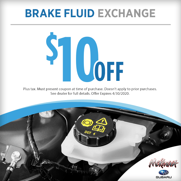 Subaru Brake Fluid Service Special in Huntington Beach, CA