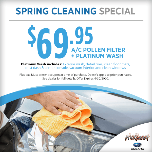 Subaru Spring Cleaning Service Special in Huntington Beach, CA