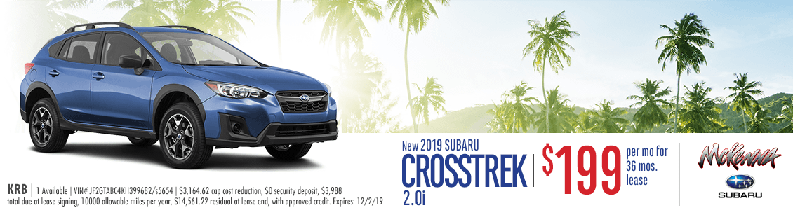 2019 Subaru Crosstrek Base Low Payment Lease Special in Huntington Beach, CA
