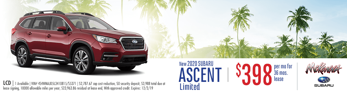 2020 Subaru Ascent Limited Lease Special in Huntington Beach, CA