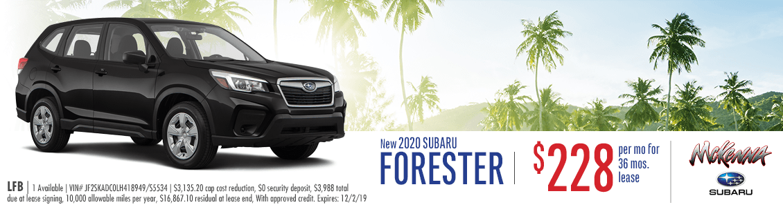 2020 Subaru Forester Base Low Payment Lease Special in Huntington Beach, CA
