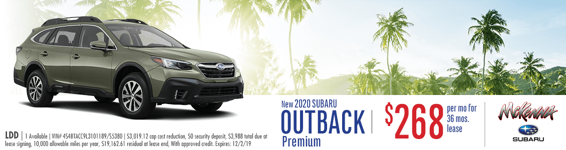 2020 Subaru Outback Premium Lease Special in Huntington Beach, CA