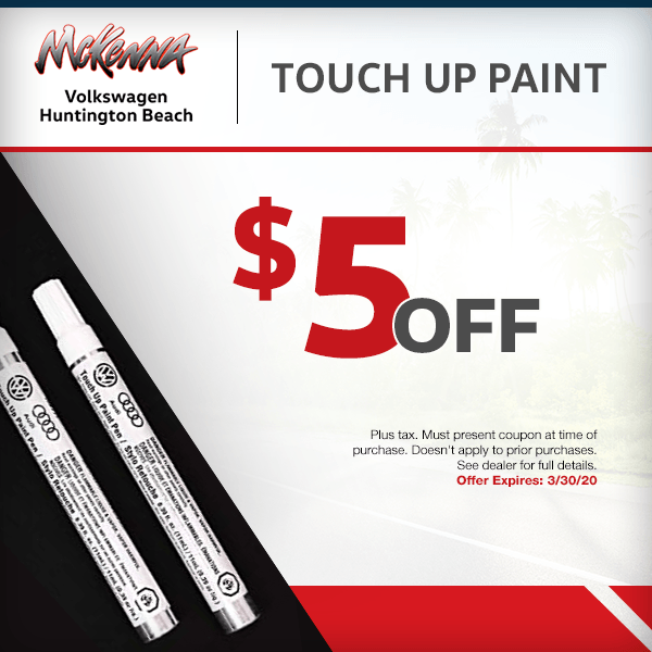 Save $5.00 off Touch up paint in Huntington Beach, CA