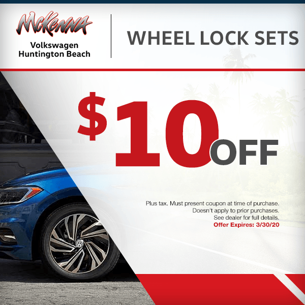 Save $10.00 off wheel lock sets in Huntington Beach, CA