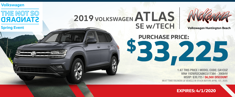 2019 Volkswagen Atlas SE w/Tech Purchase Special in Huntington Beach, CA