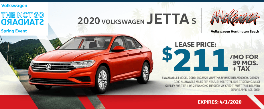 2020 Volkswagen Jetta S Lease Special in Huntington Beach, CA