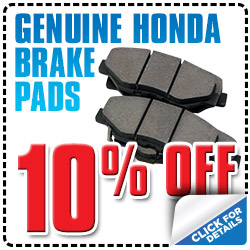 Honda Brake Pad Special Offer serving Reno, Nevada