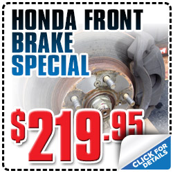Honda Front Brake Special in Carson City, Reno, Nevada