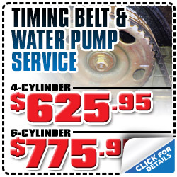 Honda Timing Belt and Water Pump Service Discount Special serving Carson City, Nevada