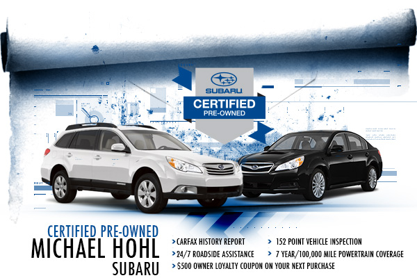 Reno Subaru Certified Pre-Owned Vehicles at Michael Hohl Subaru